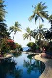 Hotel sulla spiaggia di Sengigi Fotografia Stock Libera da Diritti
