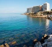 Hotel sulla spiaggia a Ibiza Fotografia Stock Libera da Diritti
