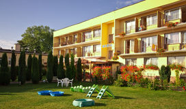 Hotel in summer royalty free stock image