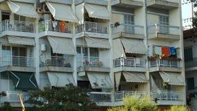 Hotel on summer resort stock video