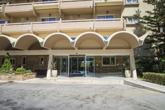 Hotel, sun beach resort complex, ixia, rhodes, greece Stock Photos