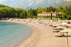 Hotel, Sveti Stefan - Montenegro Stock Image
