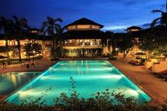 Hotel and swiming pool Stock Photo