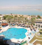 Hotel swimming pool. A hotel swimming pool in the Dead-Sea, Israel Stock Photos