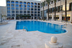 Hotel swimming pool. A hotel swimming pool in the the city of Natzeret, Israel Stock Image