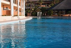 Hotel swimming pool stock images