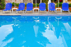 Hotel swimming pool Royalty Free Stock Images