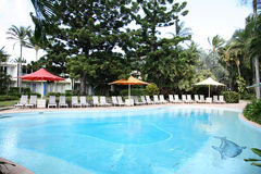 Hotel Swimming Pool. Swimming pool in an anonymous hotel in queensland, australia Royalty Free Stock Images