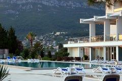Hotel swimming pool Stock Photo