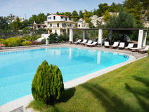 Hotel Swimming Pool. Swimming pool and garden. Luxury Hotel Royal Sun. Chania Crete Greece Stock Photography