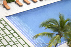 Hotel swimming pool. Luxury resort hotel swimming pool Stock Photography