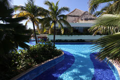 Hotel swimming pool in Mexico Stock Image