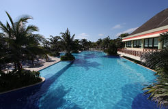 Hotel swimming pool in Mexico Stock Photos
