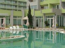 Hotel swimming pool in Nessebar, Bulgaria Stock Photography