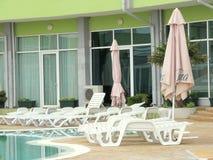Hotel swimming pool in Nessebar, Bulgaria Royalty Free Stock Photo