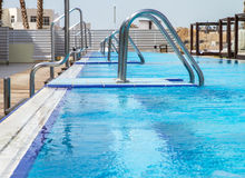Hotel swimming pool . Stock Images