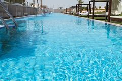 Hotel swimming pool . Royalty Free Stock Photos