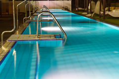 Hotel swimming pool . Royalty Free Stock Photography