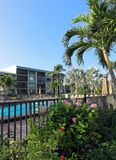 Hotel with swimming pool in Southwest Florida Royalty Free Stock Photos