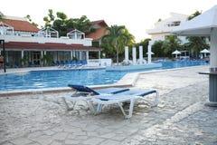 Swimming pool in hotel stock image