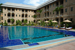 Hotel Swimming pool. In sunny day Stock Photography
