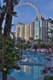 Hotel swimming pools, Las Vegas, Nevada, USA royalty free stock images