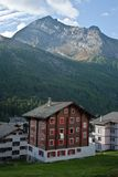 Hotel in swiss alps Stock Photos