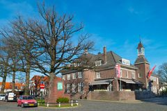 Hotel `t Lansink at C.T. Stork square in Tuindorp, Hengelo. Historical Place in Hengelo royalty free stock photo