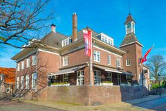 Hotel `t Lansink in Tuindorp, Hengelo. Historical Place in Hengelo - Michelin star restaurant royalty free stock photos