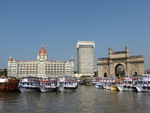 Hotel Taj and Gateway of India Stock Photography