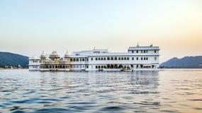 Hotel Taj Lake Palace in Udaipur Royalty Free Stock Photo