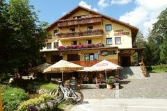 Hotel in Tatranska Lomnica, Slowakije Stock Foto's