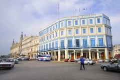 Hotel Telegrafo in Centric Havana street Stock Photography