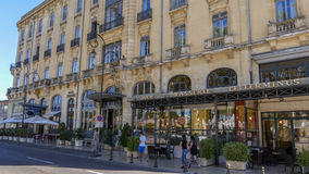Hotel Terminus  Carcassonne. Image of the Hotel Terminus of the Medieval town of Carcassonne in Languedoc, France Stock Images