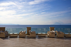 Hotel terrace Royalty Free Stock Images