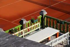 Hotel terrace Stock Photos
