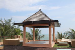 Hotel Terrasse in Thailand Stock Image