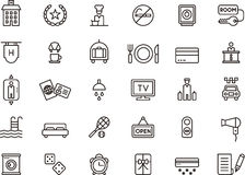 Hotel themed icon set Royalty Free Stock Photography