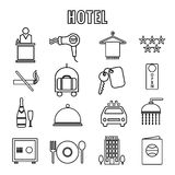 Hotel Themed Line Graphics Royalty Free Stock Image