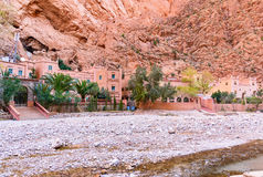 Hotel in Todgha Gorge. Morocco Stock Images