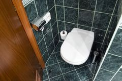 Hotel toilet Stock Images