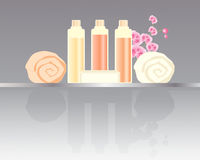 Hotel toiletries Stock Images