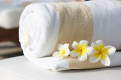 Hotel towel Stock Image