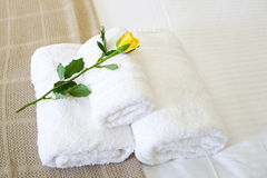 Hotel towel Stock Photo