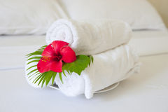 Hotel towels Stock Photography
