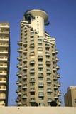 Hotel tower in tel aviv stock images
