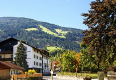 Hotel in the town Weer in the Austrian Alps Royalty Free Stock Photos