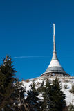 Hotel and transmitter Jested in winter time, Liberec Royalty Free Stock Photos