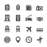 Hotel and transportation icon set, vector eps10 Stock Photos