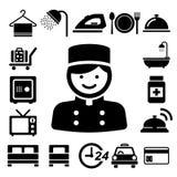 Hotel and travel icon set. Illustration eps10 Stock Photos